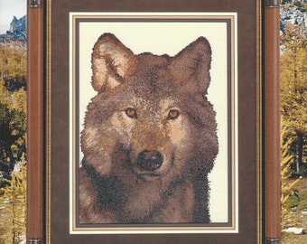 """Clearance- """"Cry of the Wild"""" Counted Cross Stitch by Cross My Heart"""
