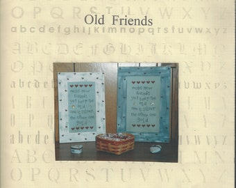 "Clearance - ""Old Friends"" Counted Cross Stitch Chart by R&R Reproductions"