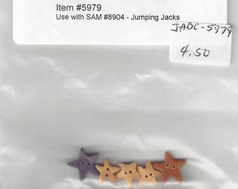 """Clearance - Samsarah Designs """"Jumping Jacks"""" button pack by Just Another Button Company #5979"""