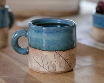 Cappuccino Mug - Handmade Pottery Mug -8 oz mug