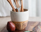 Handmade Pottery Utensil Holder, Vase, Wine Chiller, FREE U.S. Shipping & GIFT BOX, Hostess Gift, Pine Needles, Chef gift, Log Cabin decor