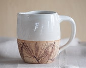 Stoneware Pitcher, Handmade Pottery, FREE U.S. Shipping & GIFT BOX, Wedding Gift, Pine Needles, Log Cabin decor