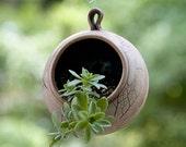 Tiny succulent planter - Air plant hanging planter - Handmade Pottery Spring Decor