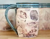 Personalized Pottery Coffee Mug - Coffee Craver - Handmade Pottery Mug - Customized Gift