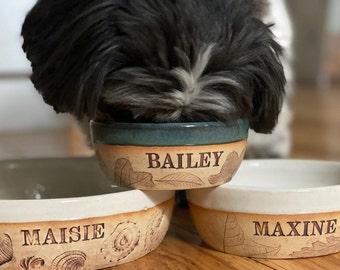 Handmade Pet Bowl, Dog bowl, cat bowl, Custom Pet Name Gift