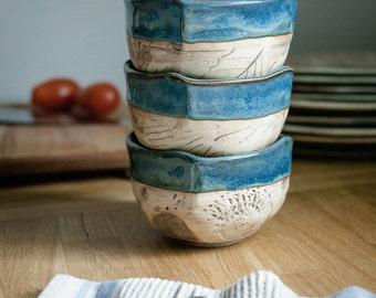 Tiny pottery bowl - Condiment Bowl - Ramekin - Rustic bowl
