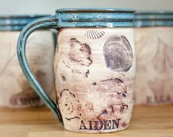 Personalized Pottery Coffee Mug - Coffee Craver