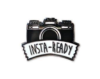 Insta-Ready Enamel Pin - Camera Pin