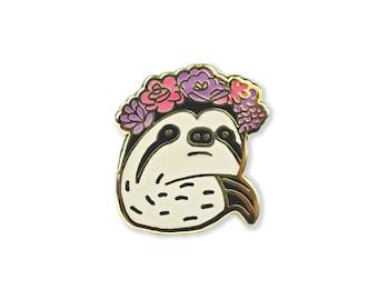 Linda Enamel Pin - Sloth Pin