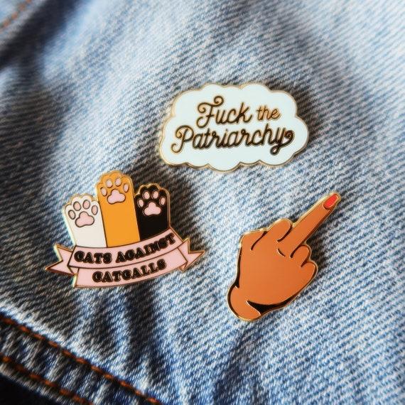 Fuck The Patriarchy Heart Brooch