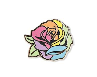 Pride Rose Enamel Pin