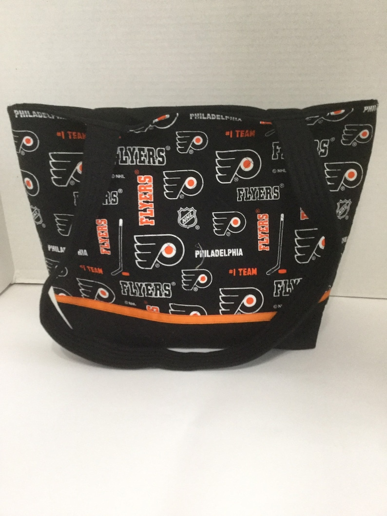 best service 54044 2270d Flyers Quilted Purse - Quilted Tote - Flyers Tote - Shopping Bag - Beach  Bag - Overnite Bag - NHL Tote - Philadelphia Flyers - Diaper Bag