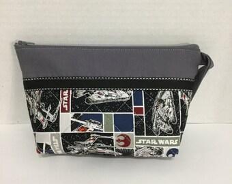 Star Wars Cosmetic Bag - Star Wars Pencil Case - Zippered Pouch - Pencil Case - NHLToiletry Bag - NFL Toiletry Bag - Makeup Bag - Travel Bag
