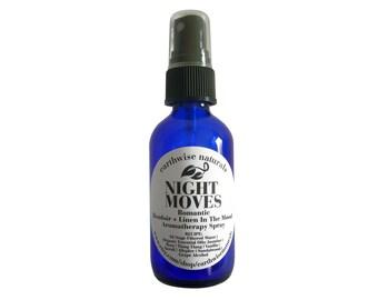NIGHT MOVES(Tm) | In The Mood Romantic Bedroom + Linen Organic Aromatherapy Spray | 2 oz