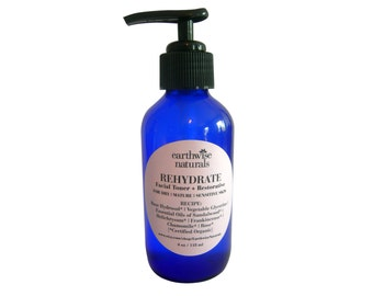 REHYDRATE - Toner & Botanical Restorative - Rose Immortelle -  for Dry Mature and Sensitive Skin - Handcrafted | Vegan|Organic - 4 Ounces