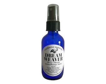 DREAM WEAVER(Tm) | Sleep + Dream Promoting Organic Aromatherapy Spray | 2 oz