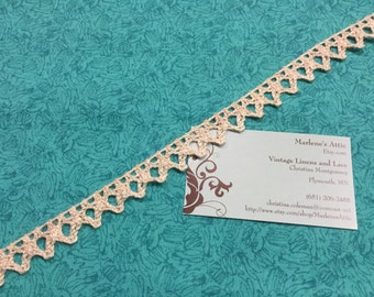 1 yard of 1/2 inch Ivory Cotton Cluny lace trim for bridal, baby, wedding, couture, costume, holiday by MarlenesAttic - Item 9AA