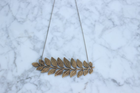 Vintage Leaves on Sterling Silver Delicate Box Chain