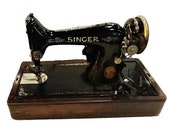 Antique 1925 Singer Sewing Machine W Bentwood Case Key Manual All Cords
