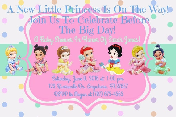 Princess Disney Baby Shower Invitation Download