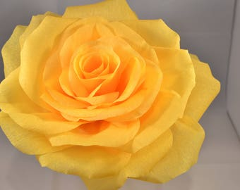 Giant crepe flower etsy giant yellow paper flower made of crepe paper mightylinksfo