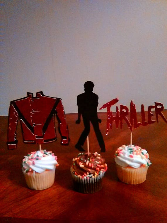 Michael Jackson Cupcake Toppers Thriller