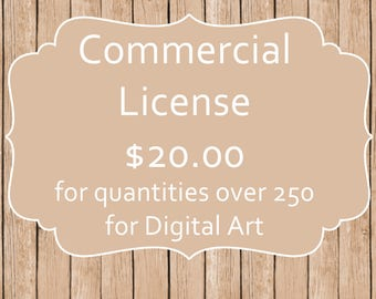 Commercial License for 250 handmade Items