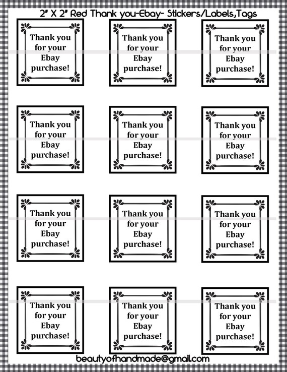 graphic about Printable Stickers Labels named Instantaneous Down load, printable thank yourself, printable stickers, printable tags, stickers, labels, tags, playing cards, ebay stickers,thank on your own