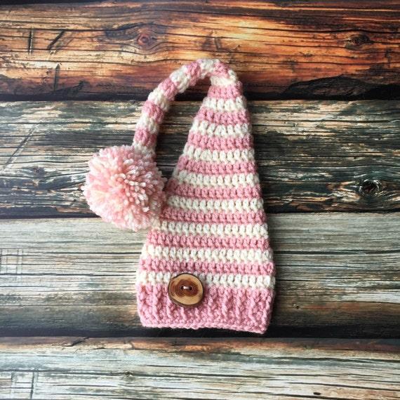 Newborn Girl Long Tail Stocking Cap Elf Hat Long Tail  5224c3af259