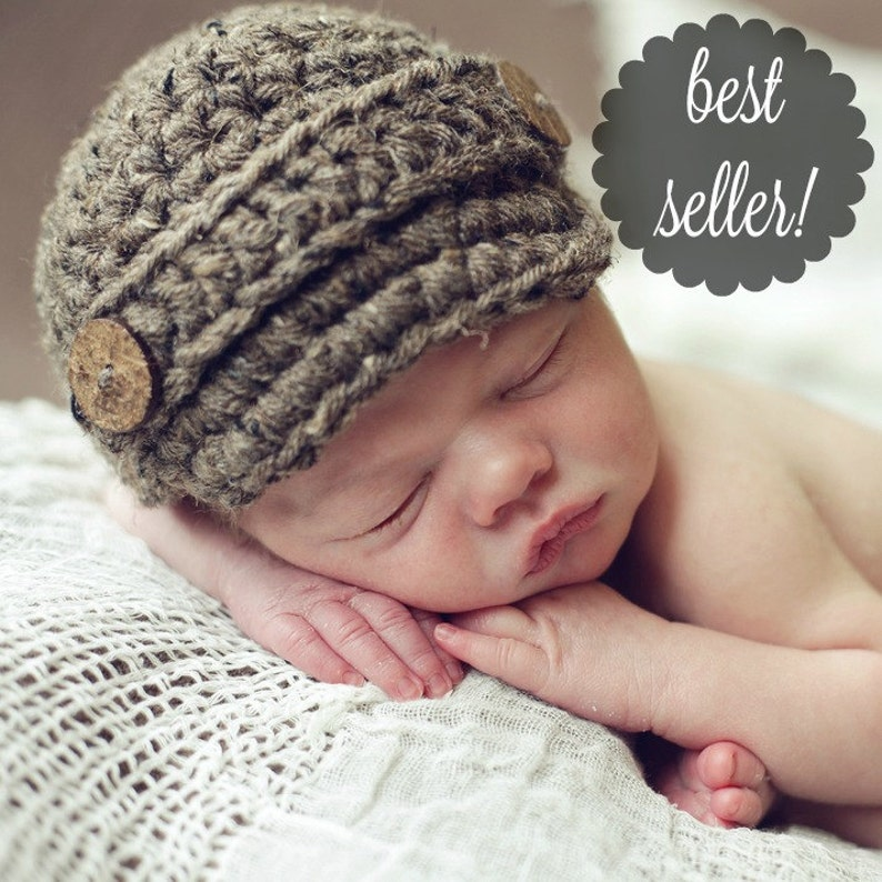 e8d9ce8f993 Newsboy Hat Newborn Photo Prop Baby Boys Hat Newborn Hat