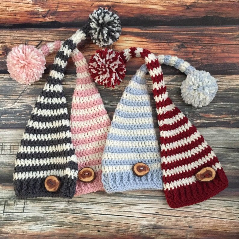 Uncinetto cappello elfo elfo neonato cappello maglia bambino  d15b3f5b1426