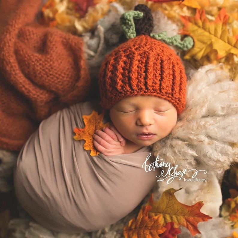 Crochet Pumpkin Hat   Newborn Pumpkin Hat   Baby Pumpkin    6eed2e80b674