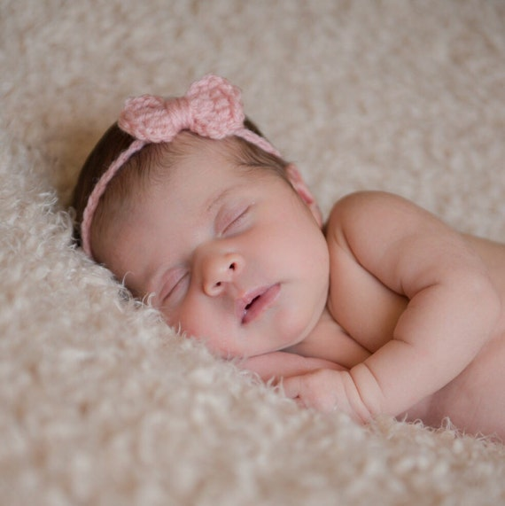 Haarband Baby-Stirnband mit Schleife Häkeln Stirnband | Etsy