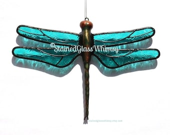 5e40fded297 Handmade Stained Glass Dragonflies   More by StainedGlassWhimsy