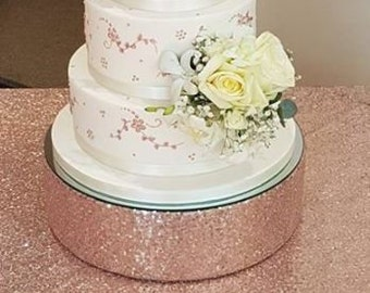 9c3109f74147 Rose gold SEQUIN blush cake stand