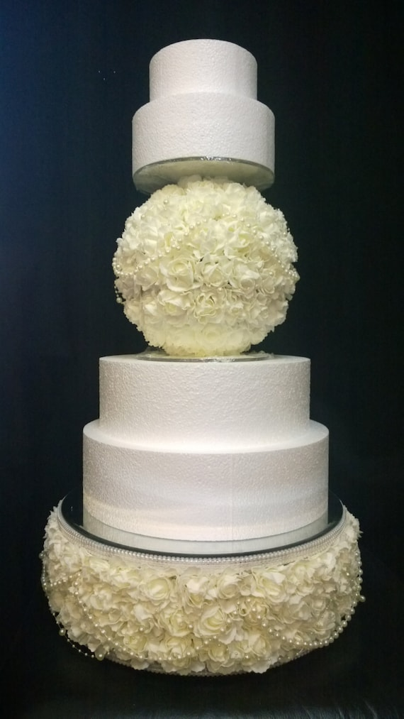 partie séparateur Miroir rose rond gâteau de mariage