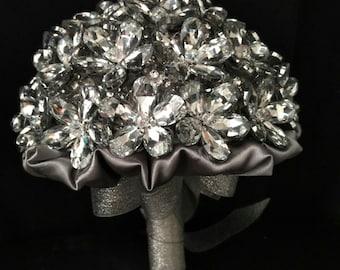 Crystal flowers bridal  bouquet