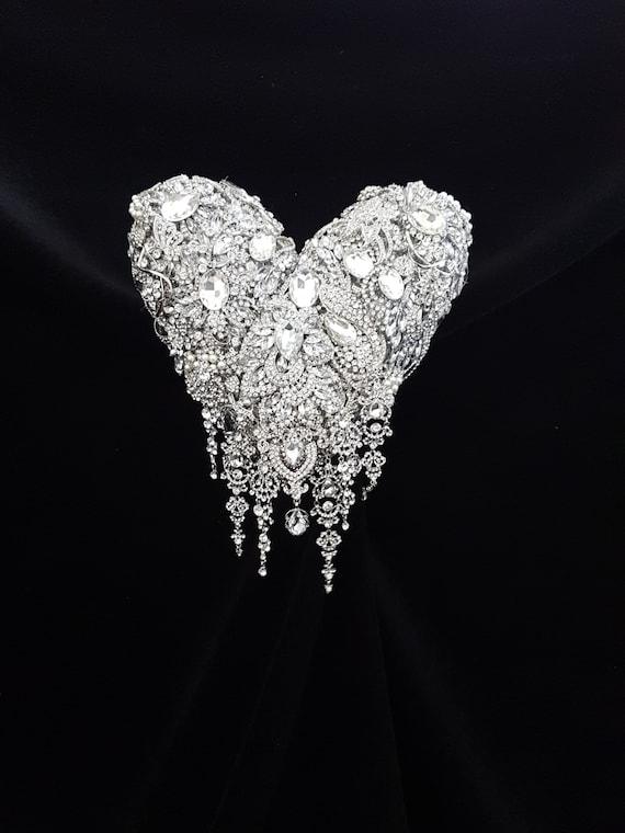 Broche bouquet de roses en forme de coeur tirant de etsy - Bouquet de roses en forme de coeur ...