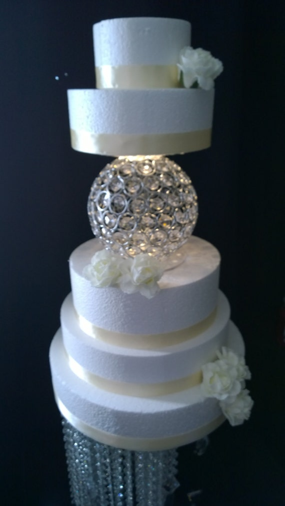 Sphere shape crystal cake separator 2 sizes   Etsy