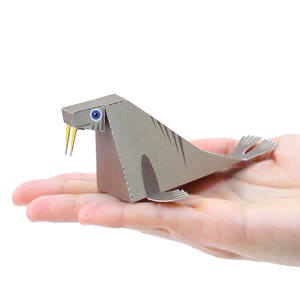 STANDING CAT Paper Craft Postcard 3D Model Paper Figure
