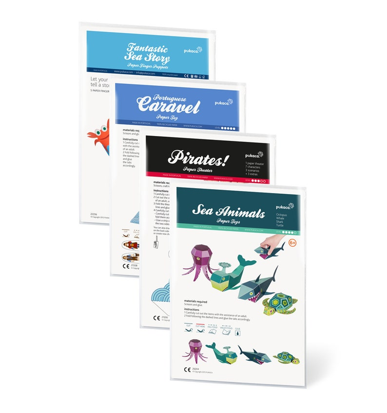 SEA Pack - 4 Paper Toys Kits with FREE SHIPPING