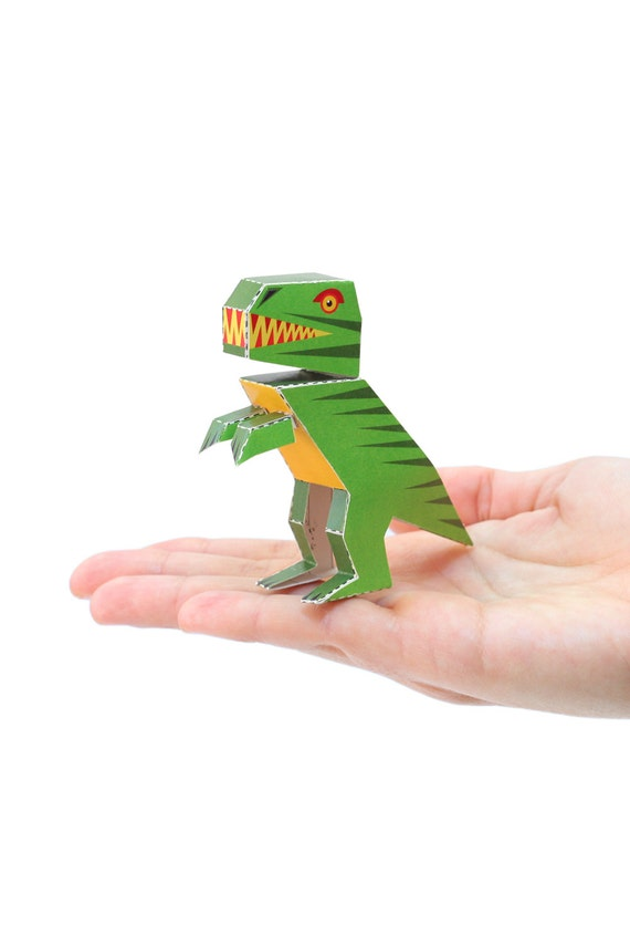 3D Model Paper Figure T-REX Paper Craft Postcard