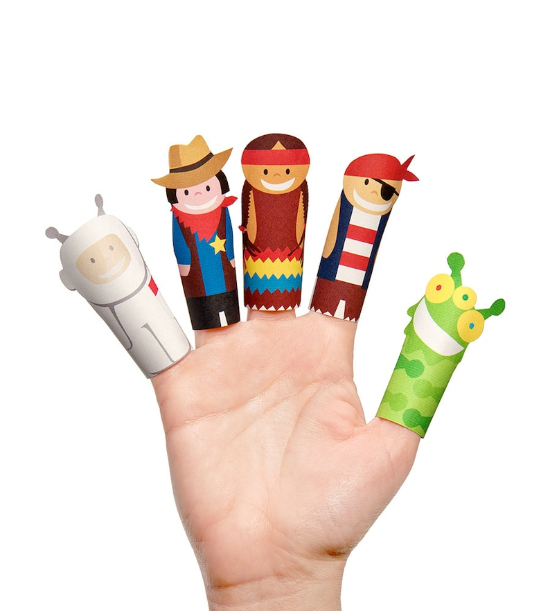 picture regarding Printable Heroes Pdf known as Excellent Heroes Paper Finger Puppets - PRINTABLE PDF Toy - Do it yourself Craft Package Paper Toy - Birthday Celebration Desire