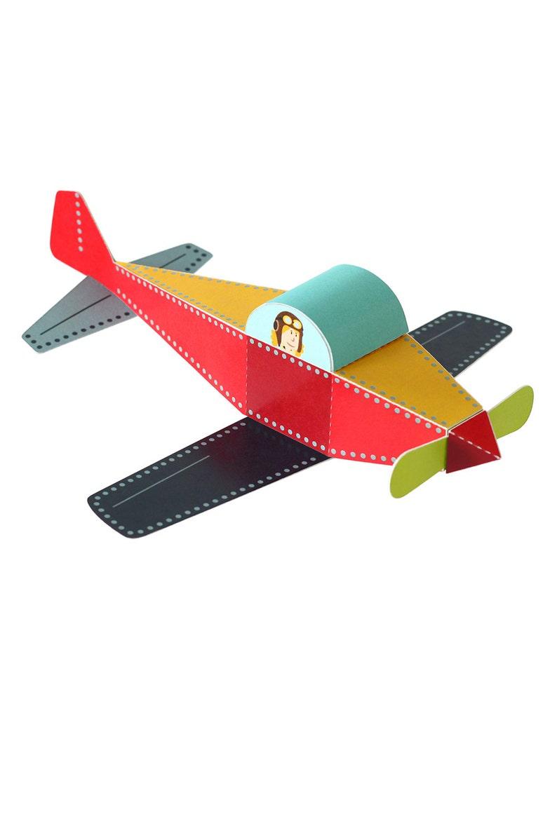 Plane Paper Toy - DIY Paper Craft Kit - 3D Model Paper Figure