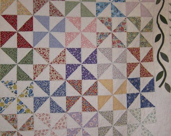 Pinwheel Quilt in Reproduction Vintage Fabrics