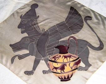 Tokyo Central Purchasing Office Mythical Japan Silk Scarf