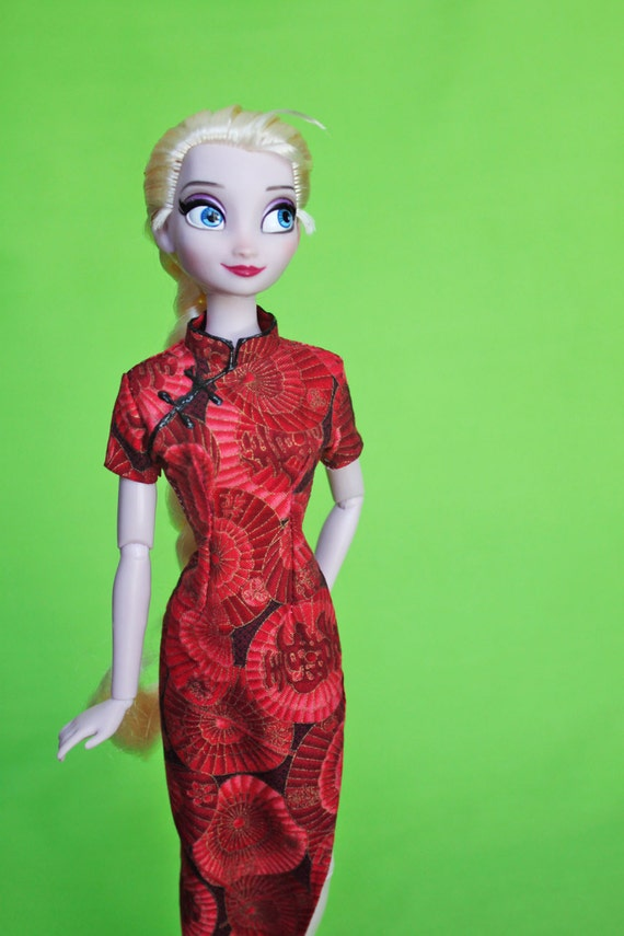 """Doll Clothes For 11.5/"""" Cheongsam Chinese Traditional Dress Qipao Evening Dress"""