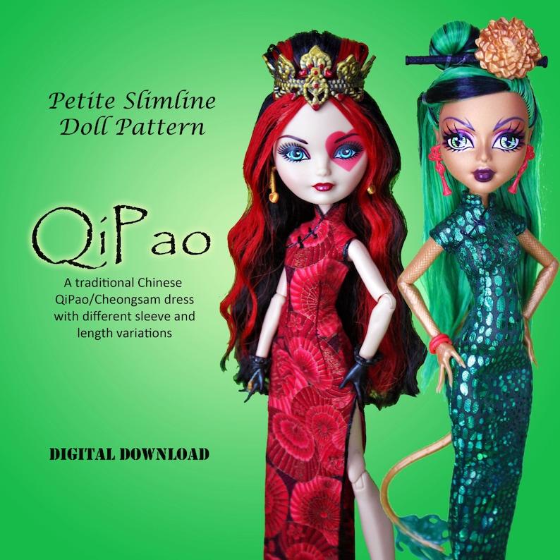 91f5699f9 QiPao Cheongsam Chinese Dress Doll Clothes PDF Sewing Pattern   Etsy
