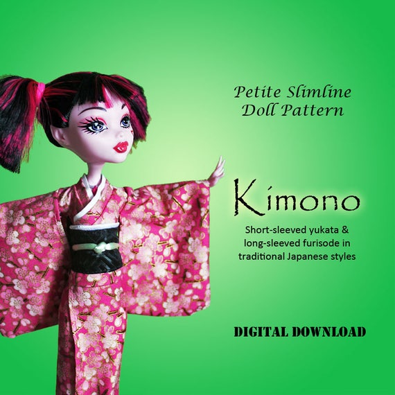 Kimono Japanese Dress Doll Sewing Clothes Pattern For