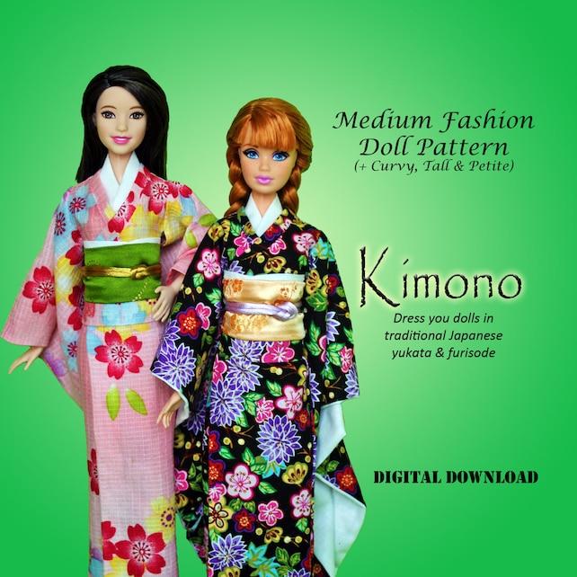 Japanese Kimono Yukata Dress Clothes Pdf Sewing Pattern For Etsy